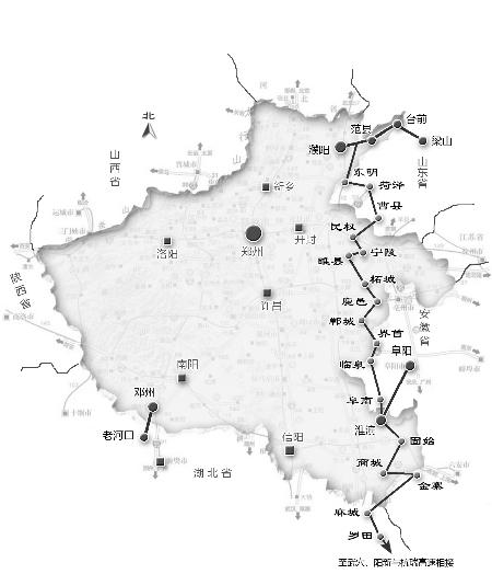 济祁高速永城段,阜阳至淮滨至息县2条高速除省界段外